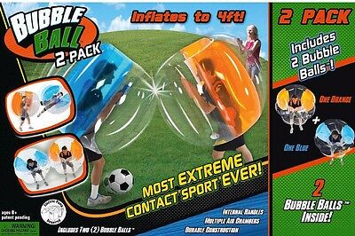 New Bubble Ball Inflatable Body Bumpers 2 Pack Outdoor Sports Activity Set