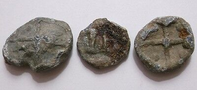 Lot of 3 English Lead Tokens