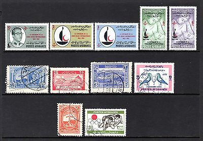 AFGHANISTAN MNH + GOOD TO FINE USED RANGE x 11 STAMPS NOT CAT OR CHECKED BY ME