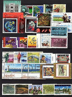 CANADA VERY MODERN COMMEMORATIVES GOOD TO FINE USED RANGE x 50 STAMPS NOT CAT