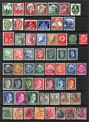 GERMANY THIRD REICH GOOD TO FINE USED RANGE x 58 STAMPS NOT CAT OR CHECKED BY ME