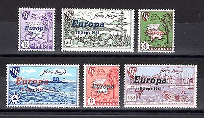 Herm Island 1961 Europa Superb Mnh Set Of 6 Not Cat By Me
