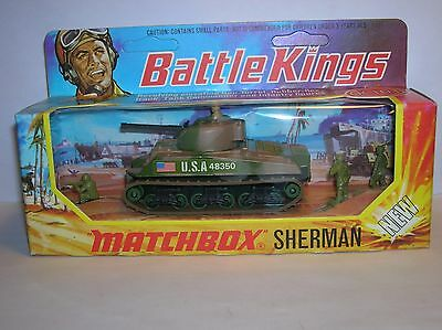 Soldatini Matchbox-Oh-1/72 Scale-Ref K101-Sherman Tank-Battle Kings Series-Box