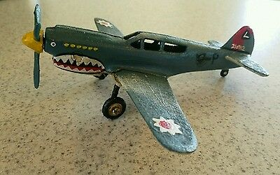 WWII Shark Mouth Cast Iron Fighter Airplane Aviation Military Single Engine