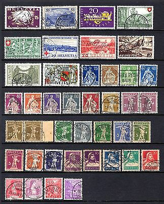 SWITZERLAND MIDPERIOD GOOD TO FINE USED RANGE x 41 STAMPS NOT CAT OR CHECKED