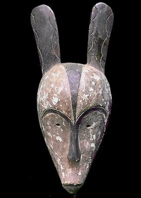 Old Tribal Unusual Fang with 2 Horns  Mask -- Gabon