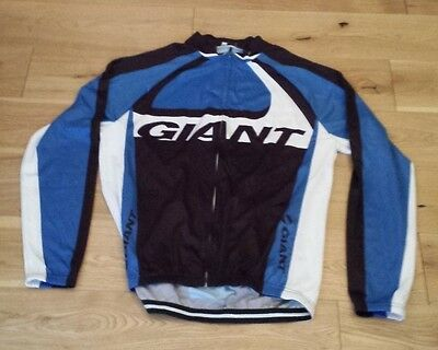 Giant Long Sleeve Cycling Jersey Blue/white/black Size XL