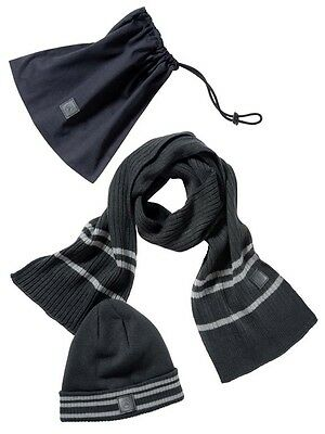 Genuine Mercedes-Benz Mens Grey Hat and Scarf Set B67871144 NEW