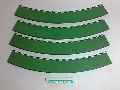 Scalextric 1960's T41C GREEN Rubber Borders (Standard Curve Outer x 4) PERFECT