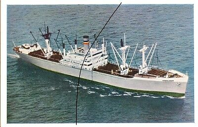 Ship/shipping Photo Of A Bulk Carrier Picture Of A Postcard Of A Freighter.