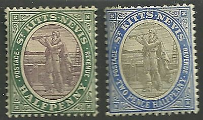 St. Kitts and Nevis Scott 1 and 4 unused