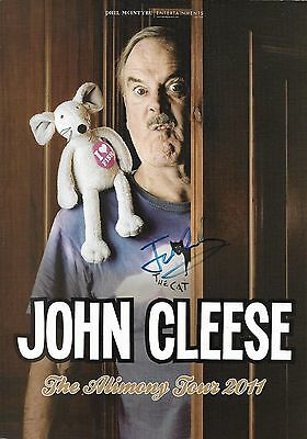 JOHN CLEESE Handsigned Flyer The Alimony Tour 2011