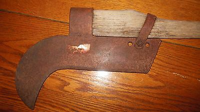 Vintage BRUSH AXE  / stamped KELLY / good solid fire fighting / old farm tool