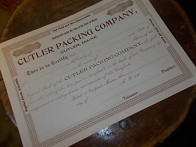Cutler Packing Company, Cutler, Maine Unissued 190-