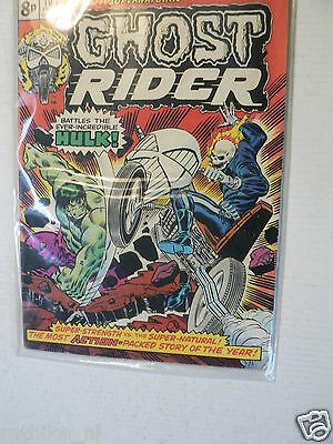 Usa Comic Ghostrider Battles The Hulk 1974 No 10 Marvel All Colour Comics