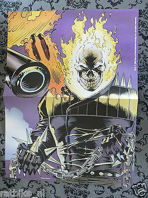 Usa Comic Poster Ghost Rider And 13 Trading Cards 1992 Ghostrider