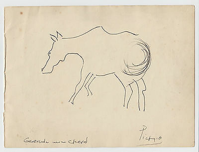 Original Pen and Ink Drawing signed Picasso