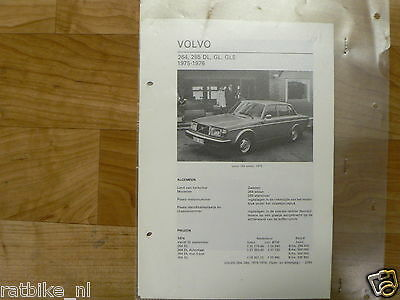 Vo11-Volvo 264, 265 Dl,gl,gle 1975-1976 -Technical Info