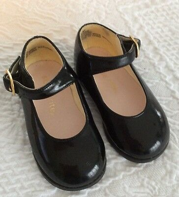 Stride Rite Black Patent Shoes Size 3M GUC Infant Toddler