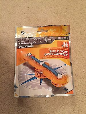 Geomag Mechanics Construction Set Build Your Own Compass 21 Piece Set NIP