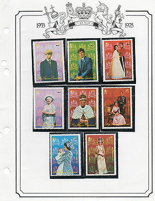 Stamps 1978 Coronation Anniversary Equatorial Guinea   Set Of 8 Perforate