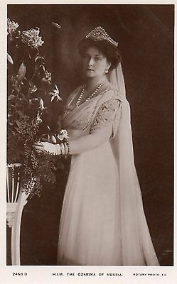 "Postcard Royalty    ""h M The Czarina Of Russia""  Rotary Photo"