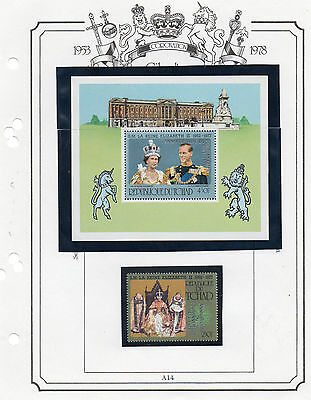 Stamps 1978 Coronation Anniversary  Chad  Sheet & Stamp Perforate