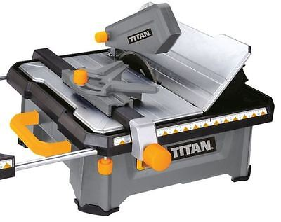 Wet Tile Saw Titan Portable 650W Water Circulation Diamond Blade Large Table