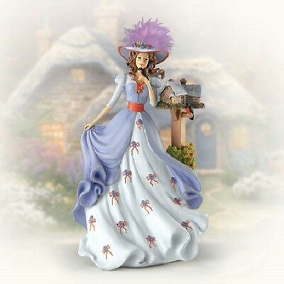 Everetts Cottage Lady Figurine Thomas Kinkade Ladies of Light