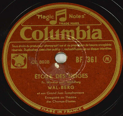 Schellackplatte - WAL-BERG - The Harry Lime Theme / Etoile Des Neiges