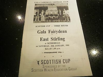 Gala Fairydean v East Stirling Scottish Cup 30 January 1988