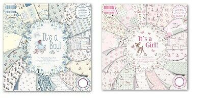 """Dovecraft - First Edition - 8"""" x 8"""" Paper Pad Its a Girl/Its a Boy, Scrapbooking"""