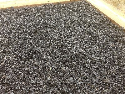Jet Black Rubber mulch  20 Bags Available.  Deliver Next Day Free Under 50 Miles