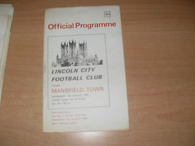 Lincoln City v Mansfield Town 14/8/68 FL Cup 1st Rnd + FL Review