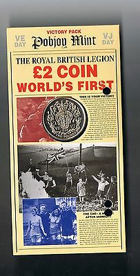 1995 Isle Of Man £2 two pounds coin - end of World War 2 VE VJ Day