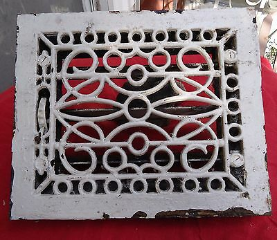 Antique Cast Iron Floor Register Grate W/Louvers Salvage Architectural Works.