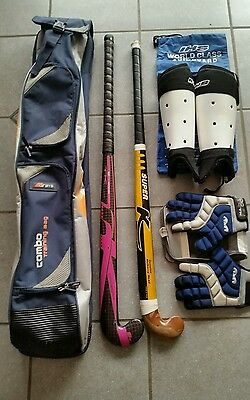 Grays Hockey Combo Training Bag with 2 sticks, gloves and shin pads