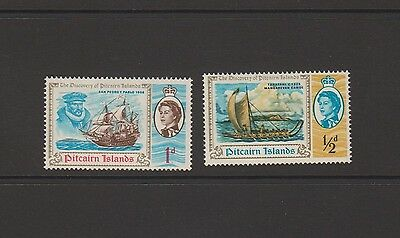 """Pitcairn Islands - 2 mint stamps featuring """"The Discovery of Pitcairn Islands"""""""