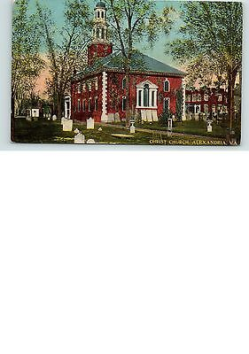 Postcard VA Christ Church, Alexandria, Virginia, Unposted