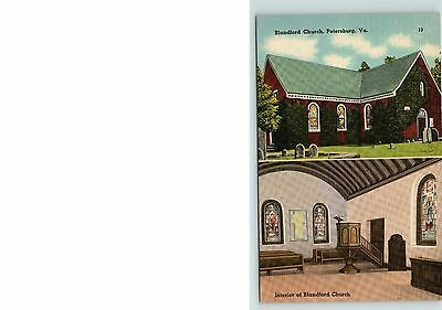 Postcard VA Blandford Church, Petersburg, Virginia, Unposted