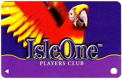 THE ISLE OF CAPRI hotel casino*ISLE ONE PARROT*Vintage BLANK~slot/players card