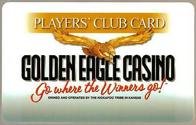THE GOLDEN EAGLE casino*WHERE THE WINNERS GO*OBSOLETE BLANK~slot/players card