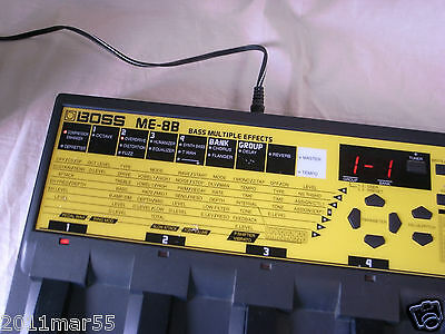 BOSS ME-8B Bass Multiple Effects with A/C Power Supply