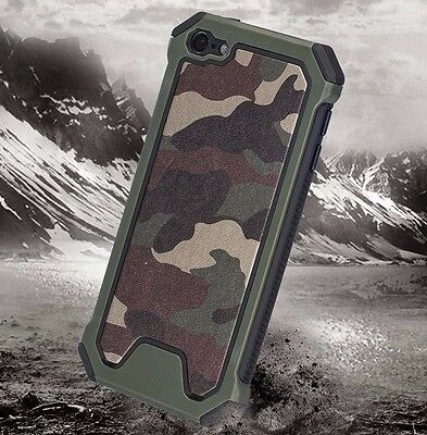 For iPod Touch 5th /6th Gen - HARD HYBRID HIGH IMPACT ARMOR CASE CAMO ARMY GREEN