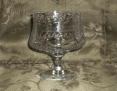 "Antique 1920's Crystal 4.5""tall Water Goblet/wine Glass/champagne Glass"