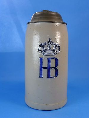 "German Beer Stein- ""Kgl. Hofbräuhaus München / Hb""; 9""- Excellent Condition!!"