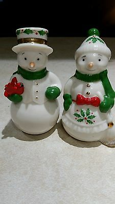 Lenox Snow Couple Salt And Pepper Shakers