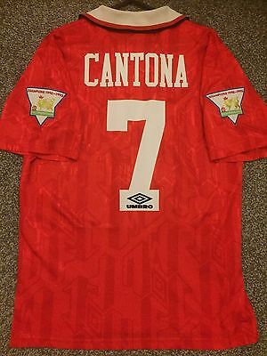 Manchester United Vintage 1992/94 Home Shirt Adults(M) 7 Cantona