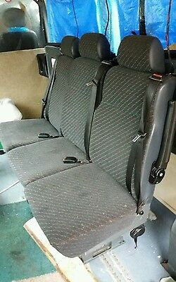 Minibus / Van seats x3 with 3 point belts