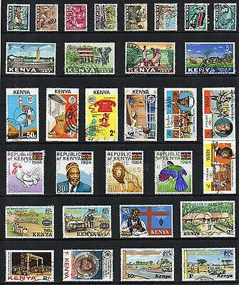 KENYA Used Stamp COLLECTION QEII 1960s+ REF:QE102